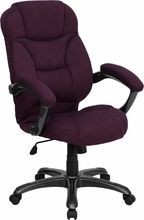 Flash Furniture GO-725-GRPE-GG High Back Grape Microfiber Upholstered Contemporary Executive Chair