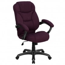 Flash Furniture GO-725-GRPE-GG High Back Grape Microfiber Upholstered Contemporary Office Chair