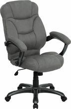 Flash Furniture GO-725-GY-GG High Back Gray Microfiber Upholstered Contemporary Executive Chair