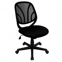 Flash Furniture GO-WY-05-GG Mid-Back Black Mesh Computer Task Chair