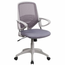 Flash Furniture H-0549FX-DK-GY-GG Mid-Back Dark Gray Mesh Office Chair