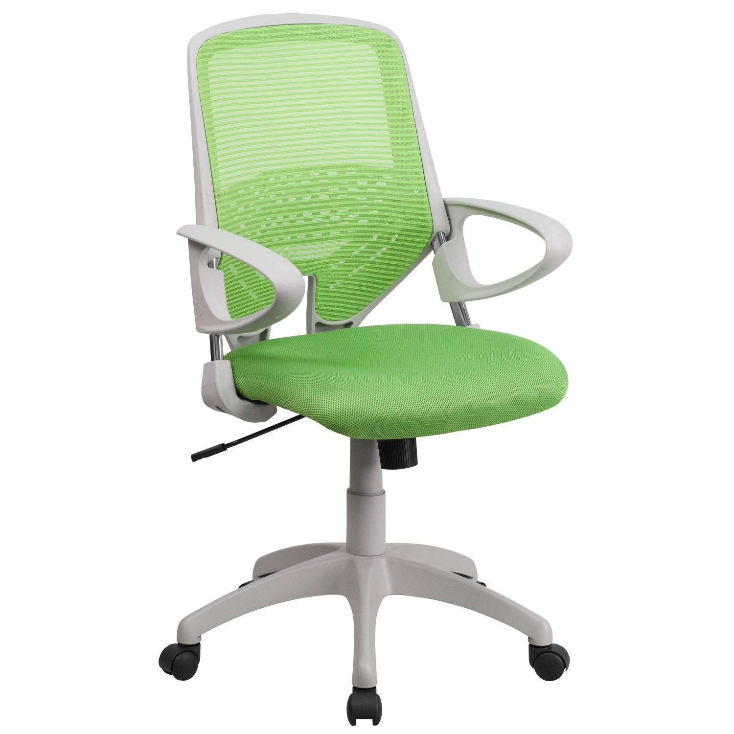 flash furniture h 0549fx gn gg mid back green mesh office chair