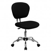 Flash Furniture H-2376-F-BK-GG Mid-Back Black Mesh Task Chair