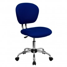 Flash Furniture H-2376-F-BLUE-GG Mid-Back Blue Mesh Task Chair