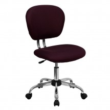 Flash Furniture H-2376-F-BY-GG Mid-Back Burgundy Mesh Task Chair