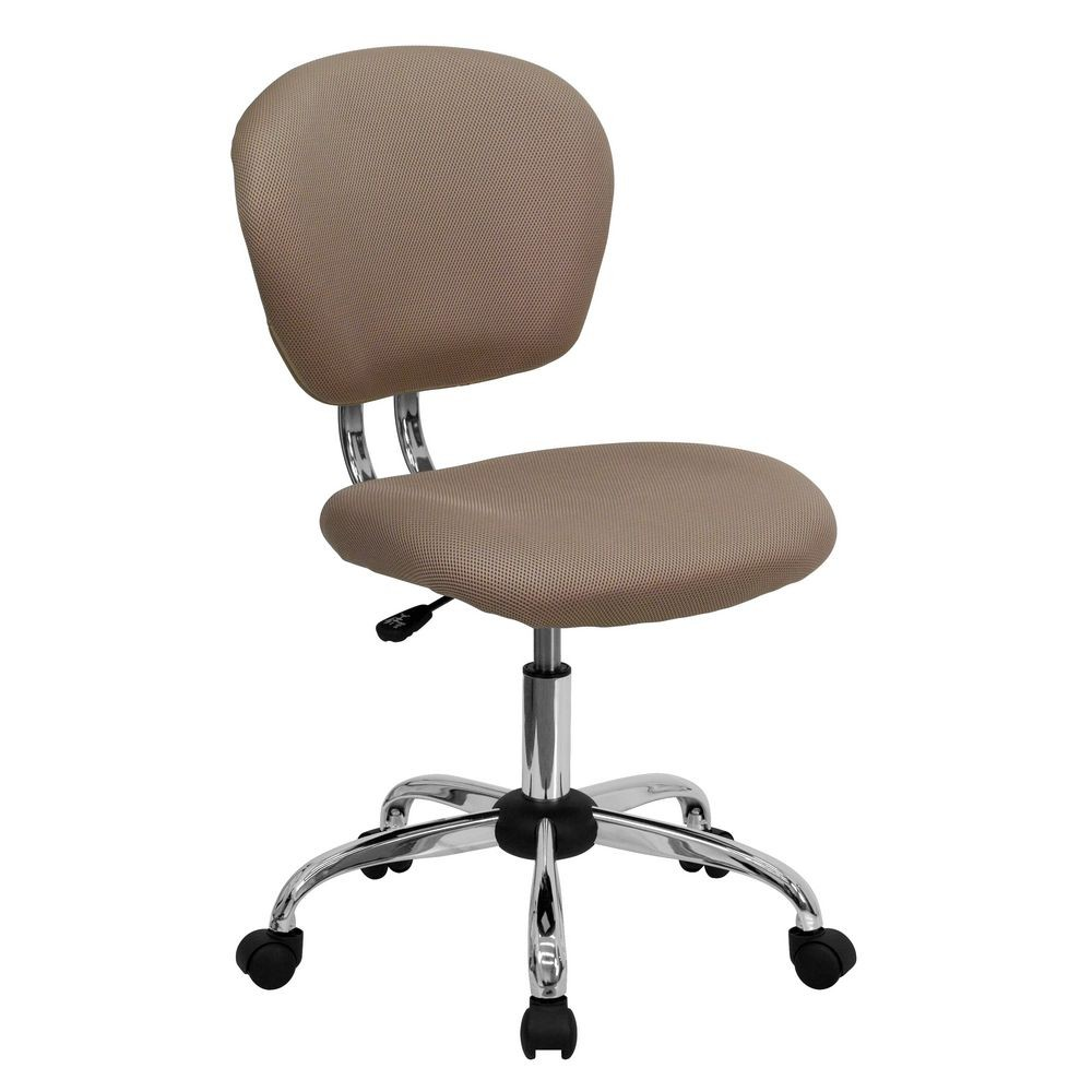 Flash Furniture H-2376-F-COF-GG Mid-Back Coffee Brown Mesh Task Chair
