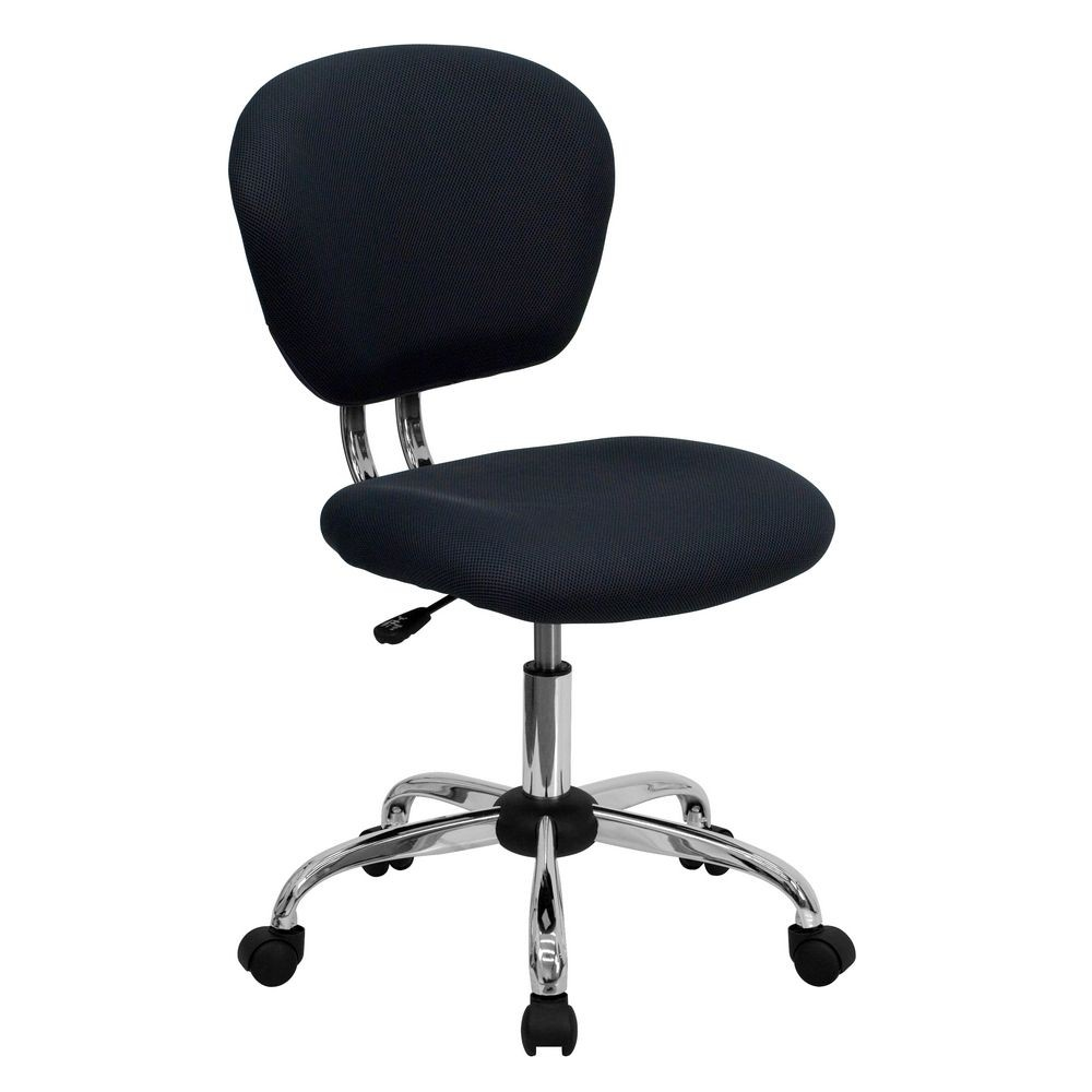 Flash Furniture H-2376-F-GY-GG Mid-Back Gray Mesh Task Chair