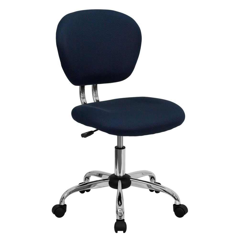 Flash Furniture H-2376-F-NAVY-GG Mid-Back Navy Mesh Task Chair