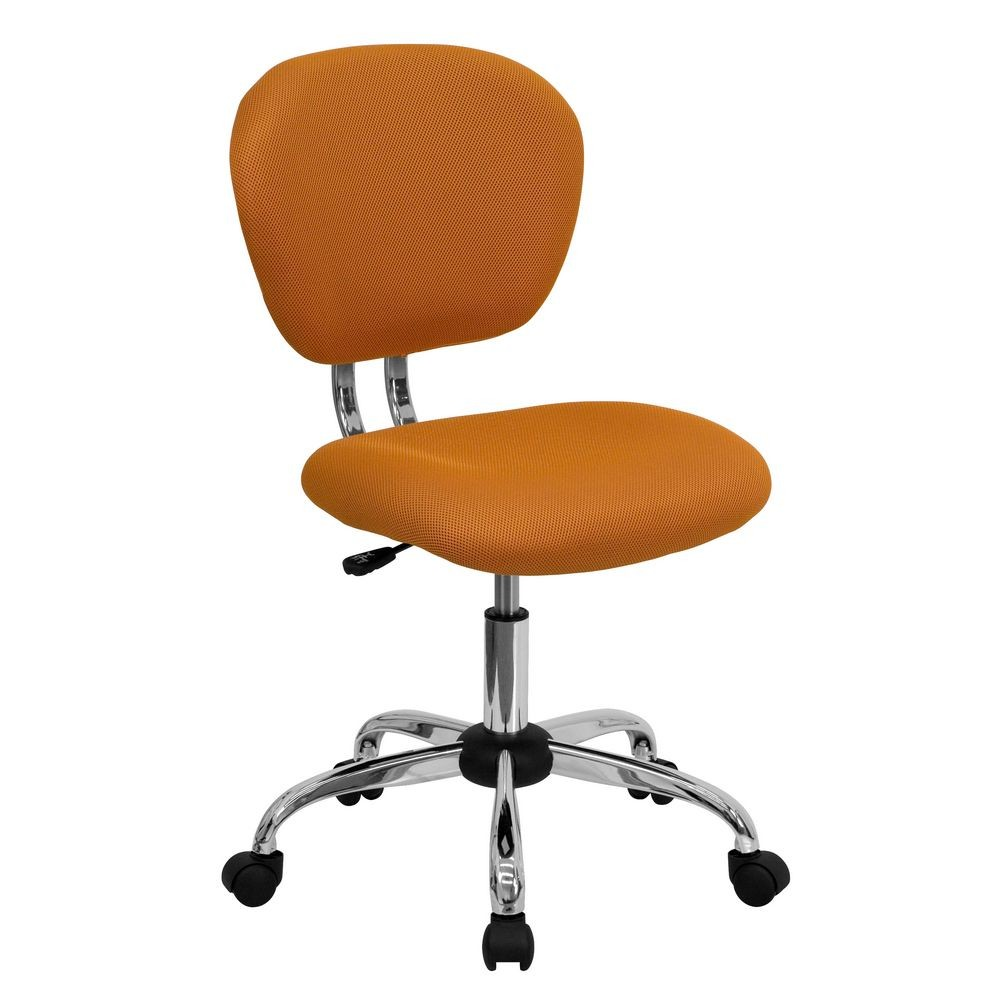 Flash Furniture H-2376-F-ORG-GG Mid-Back Orange Mesh Task Chair