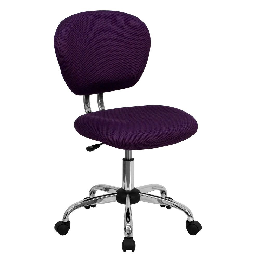 Flash Furniture H-2376-F-PUR-GG Mid-Back Purple Mesh Task Chair