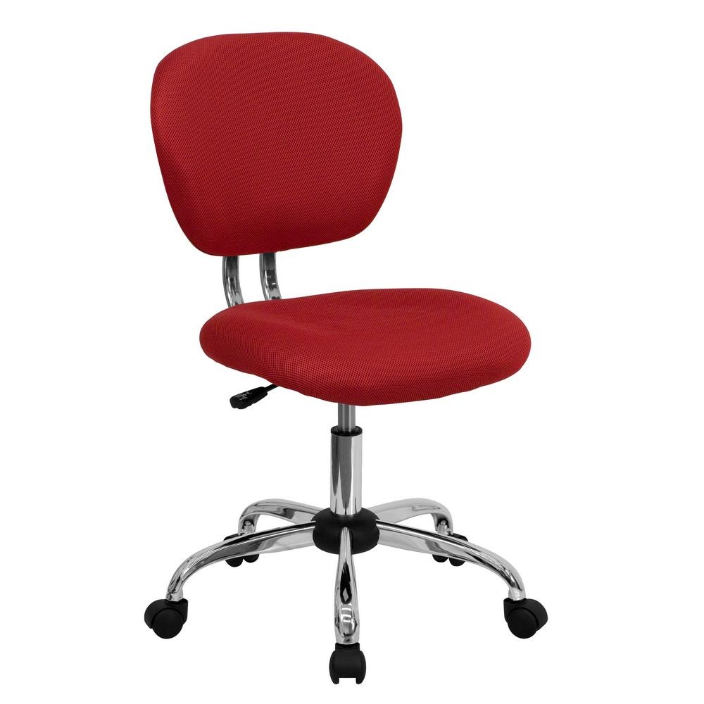 Flash Furniture H-2376-F-RED-GG Mid-Back Red Mesh Task Chair