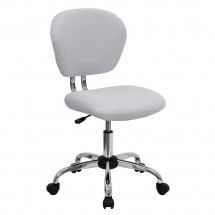 Flash Furniture H-2376-F-WHT-GG Mid-Back White Mesh Task Chair