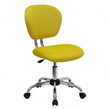 Flash Furniture H-2376-F-YEL-GG Mid-Back Yellow Mesh Task Chair