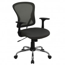 Flash Furniture H-8369F-DK-GY-GG Mid-Back Dark Gray Mesh Office Chair