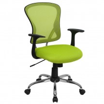 Flash Furniture H-8369F-GN-GG Mid-Back Green Mesh Office Chair