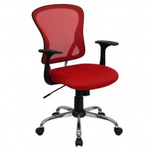 Flash Furniture H-8369F-RED-GG Mid-Back Red Mesh Office Chair