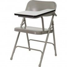Flash-Furniture-HF-309AST-LFT-GG-Premium-Steel-Folding-Chair-with-Left-Handed-Tablet-Arm