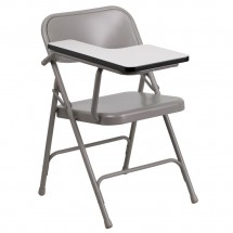 Flash Furniture HF-309AST-RT-GG Premium Steel Folding Chair with Right Handed Tablet Arm