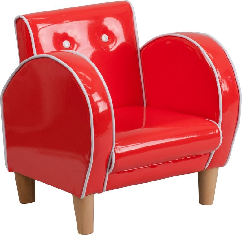 Flash Furniture HR-14-GG Kids Red Vinyl Chair