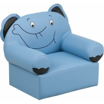 Flash Furniture HR-16-GG Kids Blue Vinyl Elephant Chair
