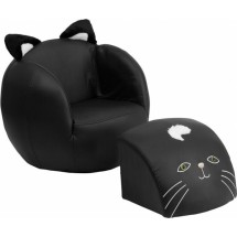 Flash Furniture HR-6-GG Kids Cat Chair and Footstool