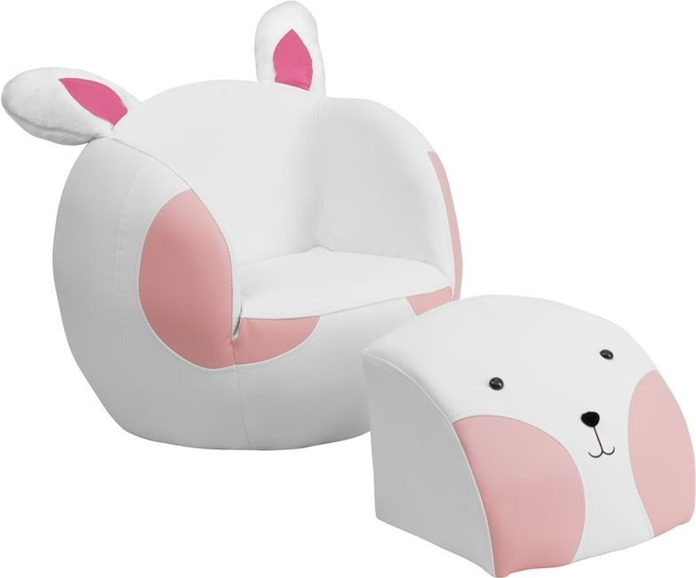 Flash Furniture HR-7-GG Kids Rabbit Chair and Footstool