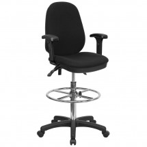 Flash Furniture KC-B802M1KG-ARMS-GG Ergonomic Multi-Functional Triple Paddle Drafting Stool