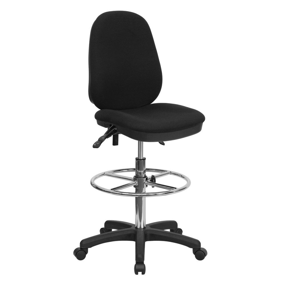 Flash Furniture KC-B802M1KG-GG Ergonomic Multi-Functional Triple Paddle Drafting Stool