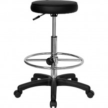 Flash Furniture KC96KG-GG Backless Drafting Stool with Adjustable Foot Ring