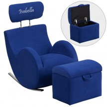 Flash Furniture LD-2025 HERCULES Series Fabric Rocking Chair with Storage Ottoman