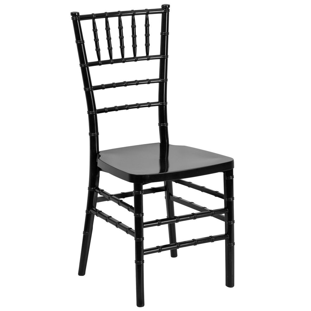 Flash Furniture LE-BLACK-GG Flash Elegance Black Resin Stacking Chiavari Chair