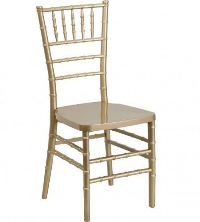 Flash Furniture LE-GOLD-GG Flash Elegance Gold Resin Stacking Chiavari Chair