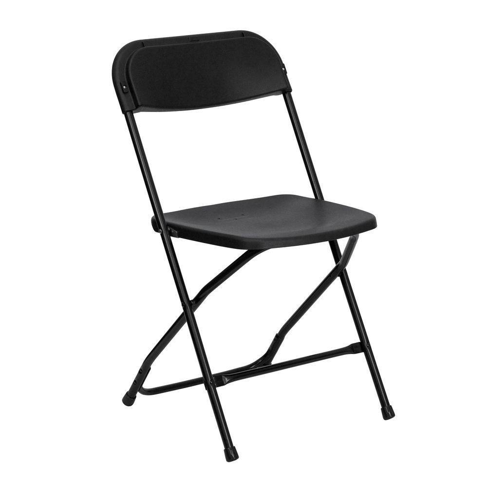 Flash Furniture LE-L-3-BK-GG HERCULES Series Premium Black Plastic Folding Chair