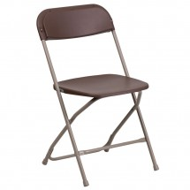 Flash Furniture LE-L-3-BROWN-GG HERCULES Premium Brown Plastic Folding Chair
