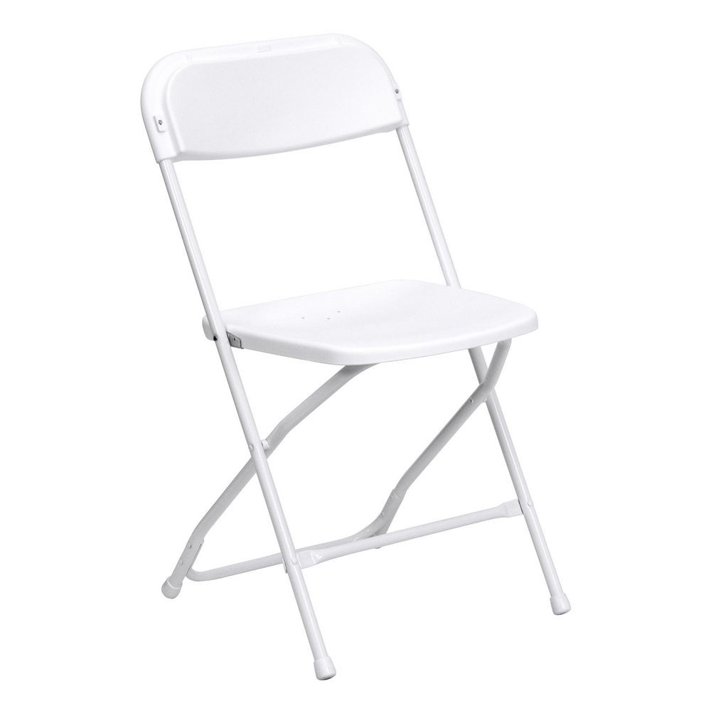 Flash Furniture LE-L-3-WHITE-GG HERCULES Premium White Plastic Folding Chair