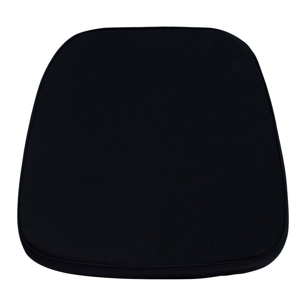 Flash Furniture LE-L-C-BLACK-GG Soft Black Fabric Chiavari Chair Cushion