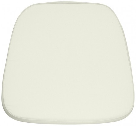 Flash Furniture LE-L-C-WHITE-GG Soft Ivory Fabric Chiavari Chair Cushion