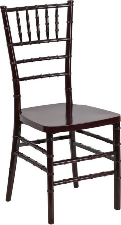 Flash Furniture LE-MAHOGANY-GG Flash Elegance Mahogany Resin Stacking Chiavari Chair