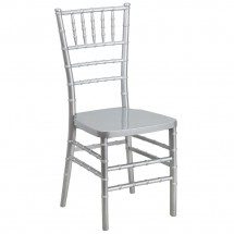 Flash Furniture LE-SILVER-GG Flash Elegance Silver Resin Stacking Chiavari Chair