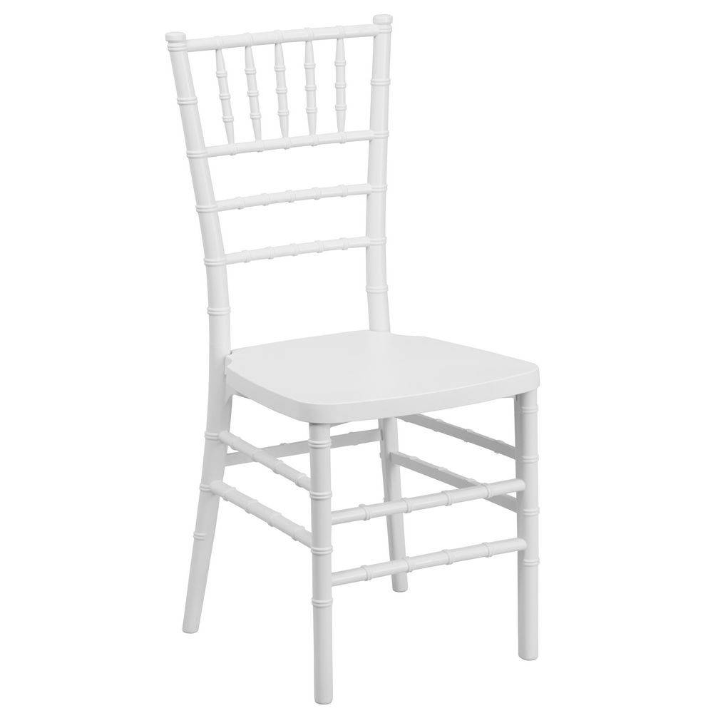 Flash Furniture LE-WHITE-GG Flash Elegance White Resin Stacking Chiavari Chair