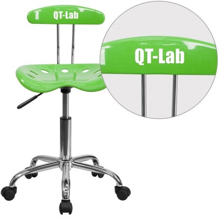 Flash Furniture LF-214-APPLEGREEN-GG Vibrant Apple Green and Chrome Computer Task Chair with Tractor Seat