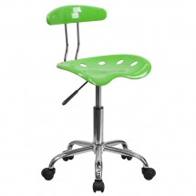 Flash-Furniture-LF-214-APPLEGREEN-GG-Vibrant-Apple-Green-and-Chrome-Computer-Task-Chair-with-Tractor-Seat