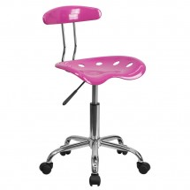 Flash Furniture LF-214-CANDYHEART-GG Candy Heart and Chrome Computer Task Chair with Tractor Seat