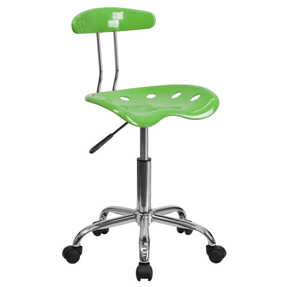 Flash Furniture LF-214-SPICYLIME-GG Vibrant Spicy Lime and Chrome Computer Task Chair with Tractor Seat
