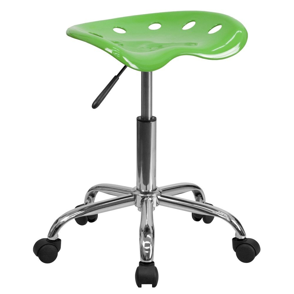 Flash Furniture LF-214A-SPICYLIME-GG Vibrant Spicy Lime Tractor Seat and Chrome Stool