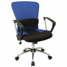 Flash Furniture LF-W23-BLUE-GG Mid-Back Blue Mesh Office Chair