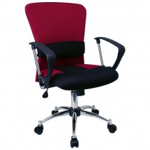 Flash Furniture LF-W23-RED-GG Mid-Back Burgundy Mesh Office Chair