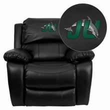 Flash Furniture MEN-DA3439-91-BK-41039-EMB-GG Jacksonville University Dolphins Embroidered Black Leather Rocker Recliner