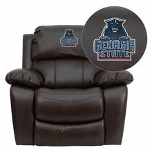 Flash Furniture MEN-DA3439-91-BRN-40013-EMB-GG Georgia State University Panthers Embroidered Brown Leather Rocker Recliner