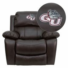 Flash Furniture MEN-DA3439-91-BRN-40014-EMB-GG Gonzaga University Bulldogs Embroidered Brown Leather Rocker Recliner